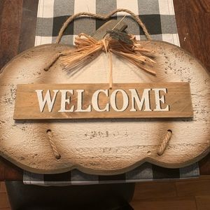Other - Pumpkin welcome sign